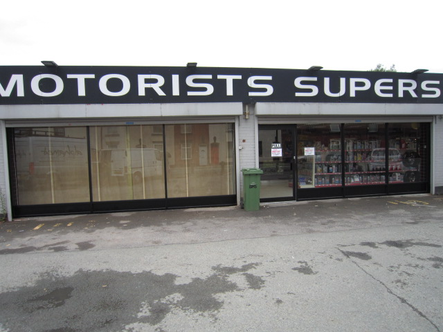 Aluminium shop front installed at BMS Superstore Oldham Lancashire