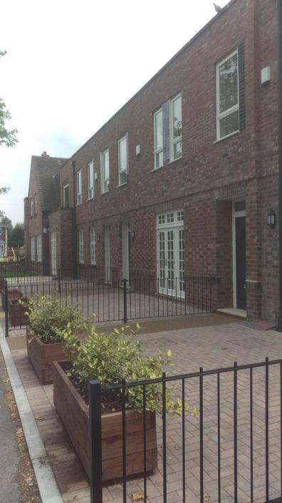Manchester curtain wall systems to apartments in Worsley