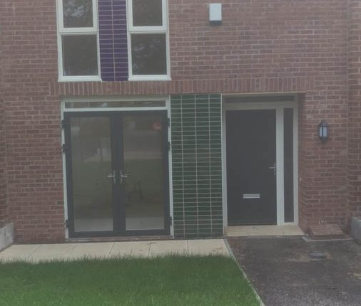 Aluminium Doors Installed for New Build Flats