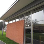 Aluminium window installation Wrekin College