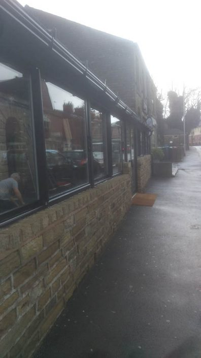 Aluminium window installation Oldham for a pub