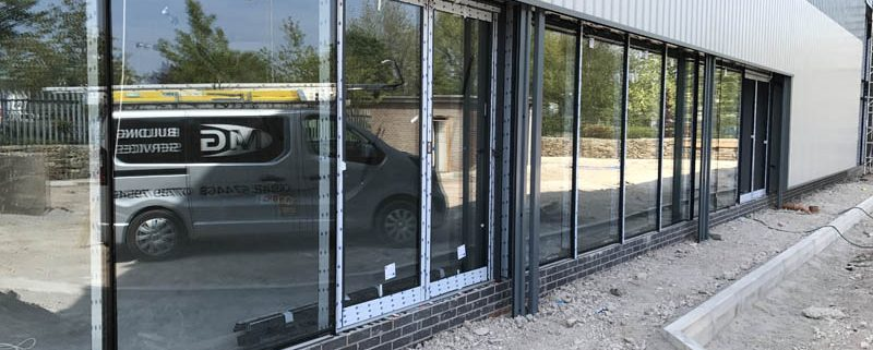 Curtain wall system installed by Alphamet Aluminium