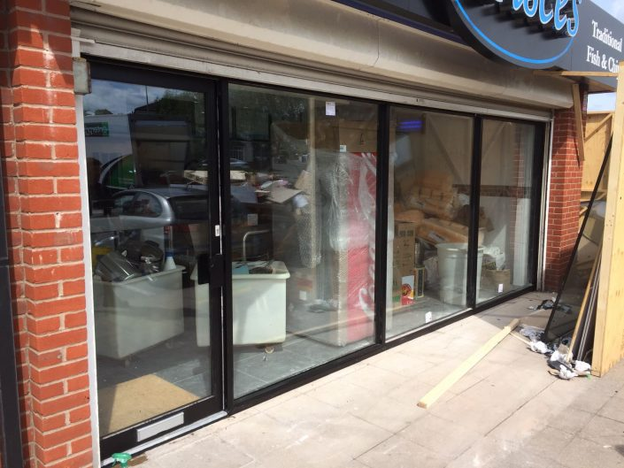 shop front installation in Stoke on Trent Stafford