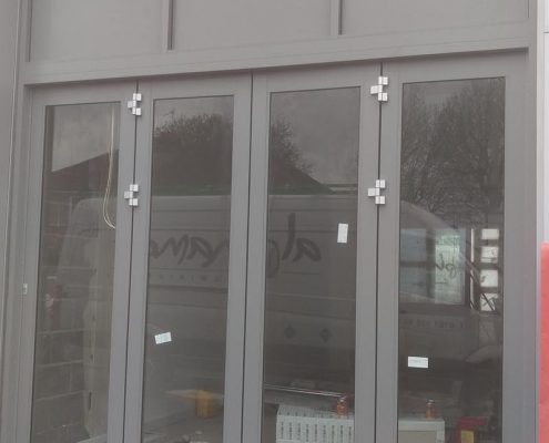 Commercial aluminium sliding doors