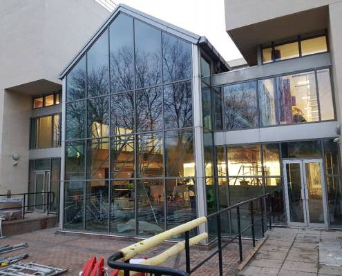glazing installation to NFU headquarters