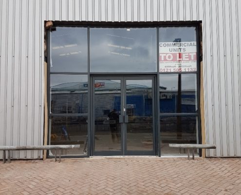 installation curtain wall system Wednesbury