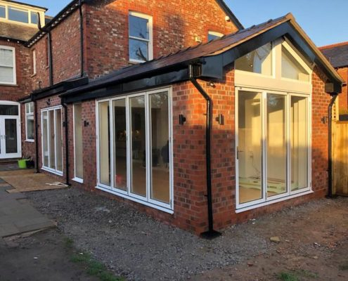 bi fold doors and windows in Bramhall