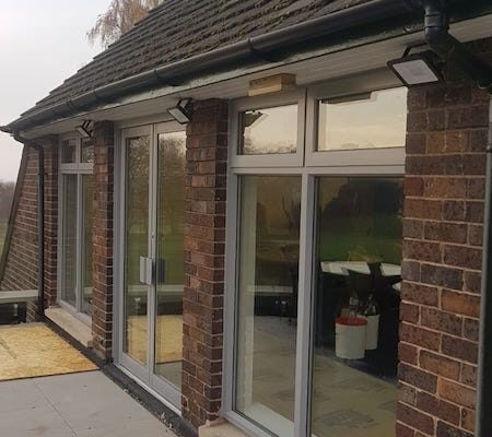 aluminium windows installed at golf club in Bowden